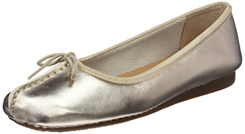 Clarks Freckle Ice, Ballerine Donna, Oro (Gold Metallic), 40 EU