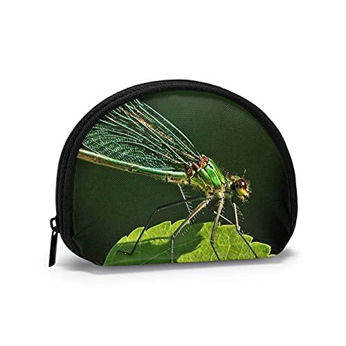 Dragoy Waving Wings Travel Shell Cosméticos Bolsas de almacenamiento portátiles para mujeres y niñas pequeñas monedero monedero monedero