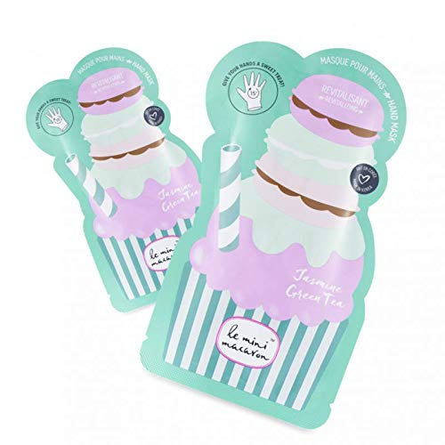 Le Mini Macaron • Hand Mask Jasmine Green Tea • Masque Hydratant • Nourrissant et Réparateur pour les Mains