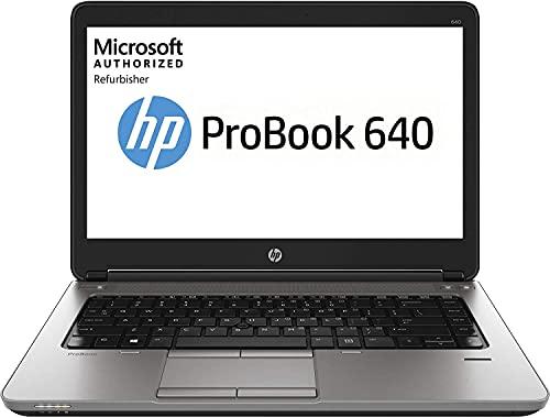 HP Ordenador portátil ProBook 640 G1 de 14 pulgadas, Intel Core i5, 8 GB de RAM, 128 GB SSD, Win10 Home (renovado) (Reacondicionado)