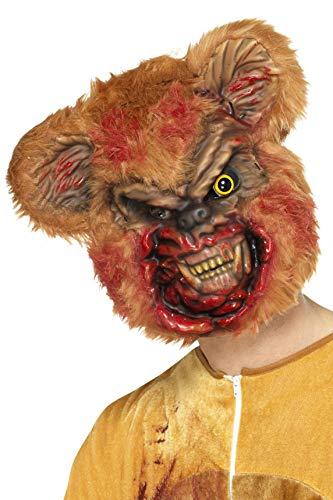 Smiffys heren Zombie teddybeer masker met bont, één maat, bruin, 46992