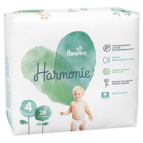 Pampers Harmonie - Pack de 28 pañales (talla 4, 9-14 kg)