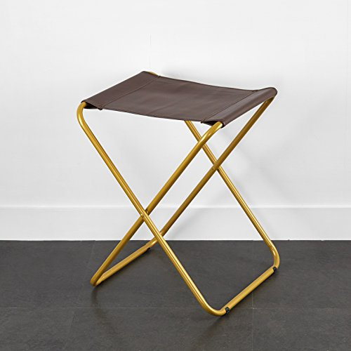 Urban Shop Leather Sling Stool, Brown
