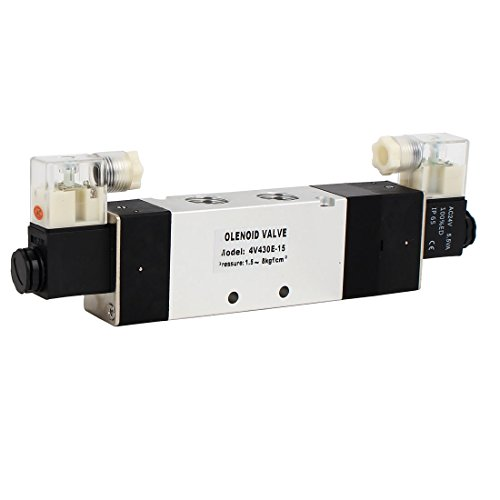Aexit AC 24V 3 Posición 5 Válvula solenoide de control de aire neumática neutral Neutral 4V430E-15 (bb16b7eca4300f860acdaf79f909cd36)