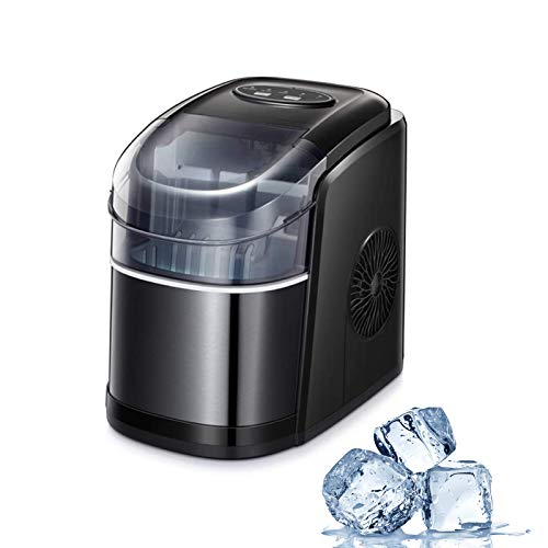 Electactic Ice Maker Machine for Countertop, 26Lbs/24H Portable Electric Ice Makers, Compact Ice Cube Maker 9 Cubes Only…