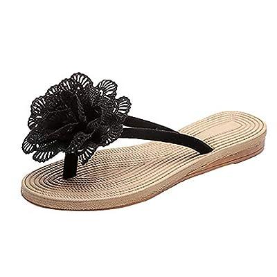 RAINED-Women's Flip Flops Summer Bohemian Flats Sandals Ethnic Style Thong Sandals Beach Walking Slippers