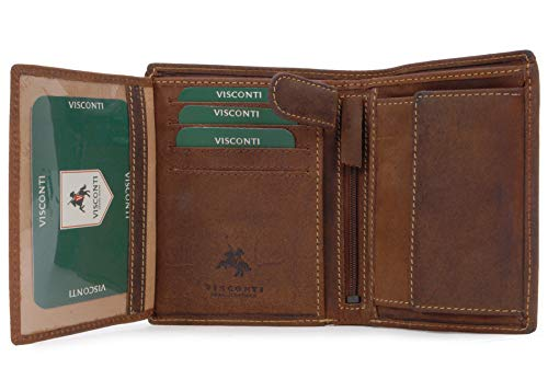 VISCONTI - RIFLE 709 - Cartera - Cuero Hunter - Tostado - RFID