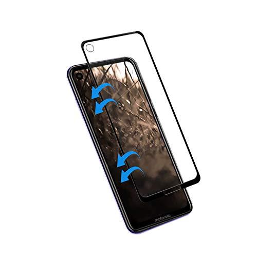 Pelicula de Vidro 3D Moto One Vision Tela toda, Cell Case, Película de Vidro Protetora de Tela para Celular, Preto