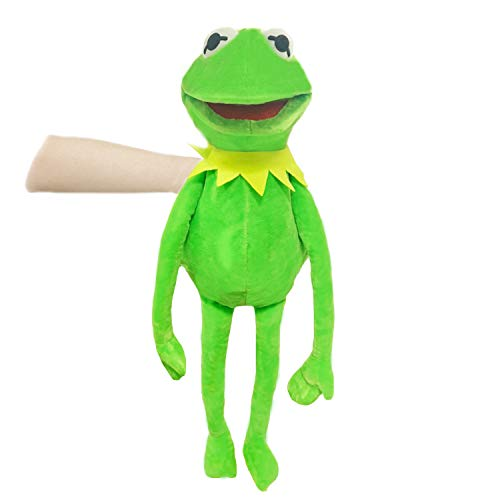 23.6 Inch Kermit Frog Puppet , Puppet Movie Plush Toy, Creative Birthday Gift for Boys and Girls(Hand Puppet Frog)