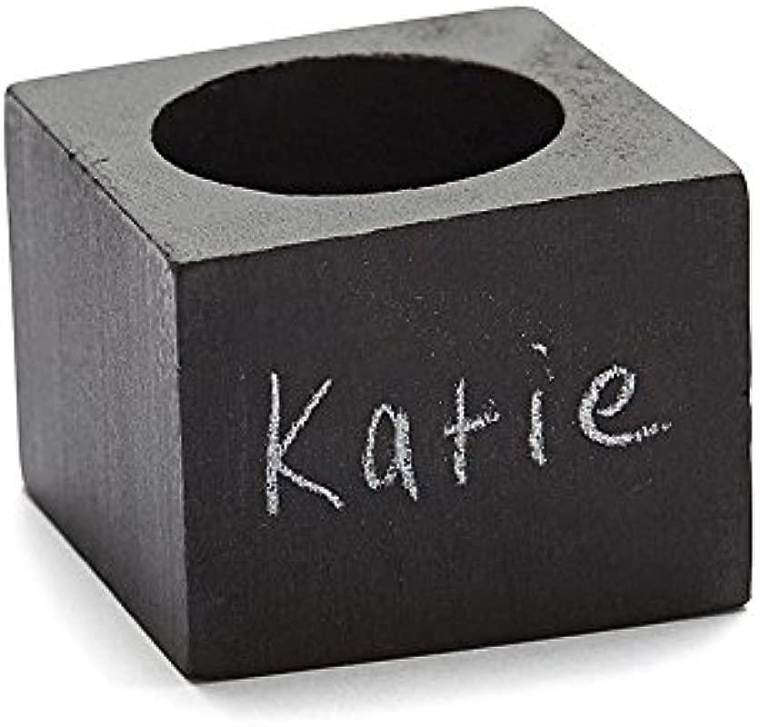 Harman Set Of 4 Chalkboard Napkin Rings