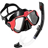Set De Snorkel Dry Top, Kit de máscara y Tubo para Snorkelling, Vidrio Templado Y Vista Panorámica Con Soporte Para Cámara Deportiva, Set de Buceo Máscara de Buceo Snorkel Set, Unisex Adulto