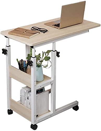 Mesa Auxiliar Mesa Auxiliar Soporte de Mesa móvil Mesa para Ordenador portátil para sofá/Cama Altura Ajustable para Aula, Oficina y hogar para Espacios pequeños
