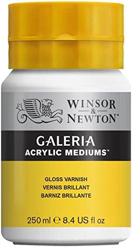 Winsor & Newton 3040801 Galeria Glänzender Firnis, 255 ml Topf, glänzende Schutzschicht auf Acrylbildern