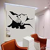Calcomanía de pared de masaje, pegatina de vinilo para ventana de salón de belleza, calcomanía de Spa, tienda moderna, pegatina de pared extraíble, Mural A2 65X42CM