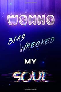 "Wonho Bias Wrecked My Soul: Monsta X Starry Night Light Kpop Bias Merch Notebook 100 Page 6 x 9"" Blank Lined Journal Book ..."