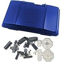 Deylaying Reemplazar Funda Caja Anti Otoño contra Choque Cárcasa Cubierta con Botón Tornillos Pegatinas Kits para Nintendo DS Juego Consola (Azul)