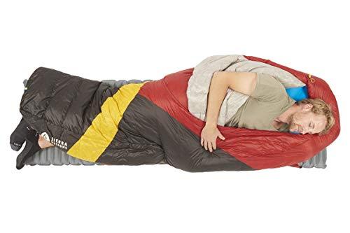 Sierra Designs Cloud 20 Degree DriDown Sleeping Bag Ultralight Zipperless Down Sleeping Bag for Backpacking and Camping - Long