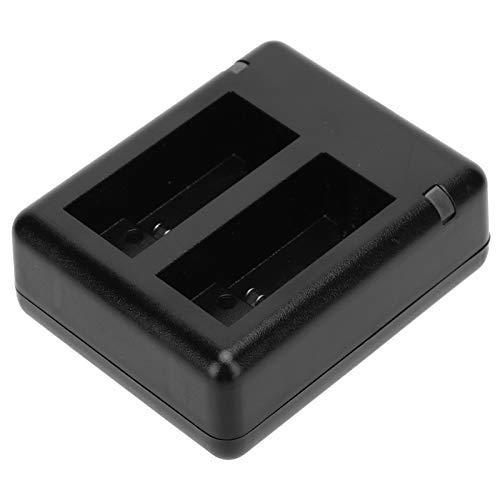DAUERHAFT Cámara Cargador de batería Dual Los Accesorios de la cámara Detectan automáticamente Adecuado para Satisfacer Sus Necesidades de Carga