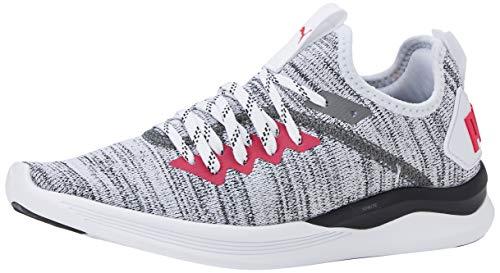 PUMA Damen Ignite Flash Evoknit WN's Sneaker, Weiß White Black-Bright Rose, 42 EU