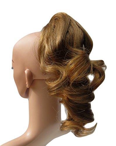 317 VANESSA GREY Toutes les couleurs disponibles, Petite Pince Extension De Cheveux Volumineuse Pour Queue De Cheval, Blond Miel Foncé