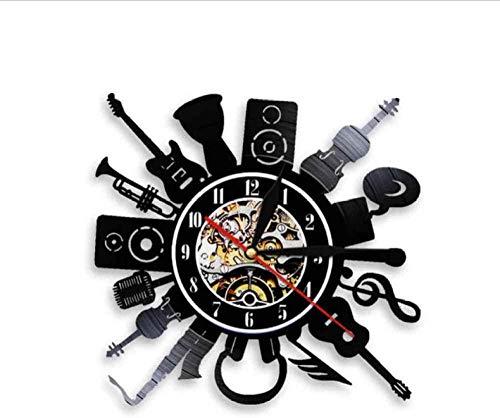 Reloj de pared de guitarra eléctrica acústica para decoración de pared, Punk...