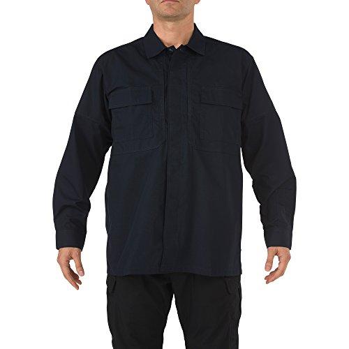 5.11 Tactical Ripstop TDU Long-Sleeve Shirt,Dark Navy,X-Large