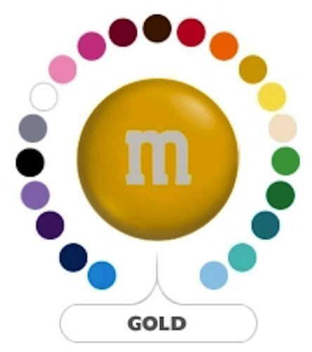 M&M's Gold Milk Chocolate Candy 5LB Bag (Bulk)