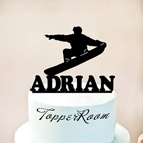 Snowboarden Cake Topper, Freestyle Cake Topper, Snowboarden Silhouetten, Snowboarden Taart Decoratie (1028)