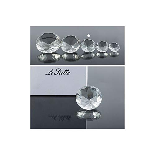 Super oferta 4 unidades de diamante cristal de 6 cm en caja regalo bombonera