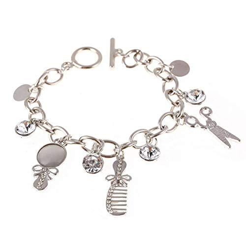 DMUEZW Mode Seltene Charme Opal Schere Kämme Armbänder Für Frauen Armreif Manschette Silber Gold Marke Armbänder Frauen Armreifen Schmuck