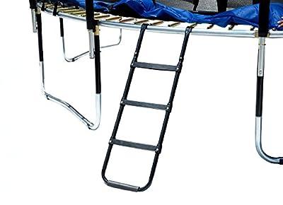 Exacme Trampoline Accessory: Wide-Step Trampoline Ladder with 3 Platform Steps