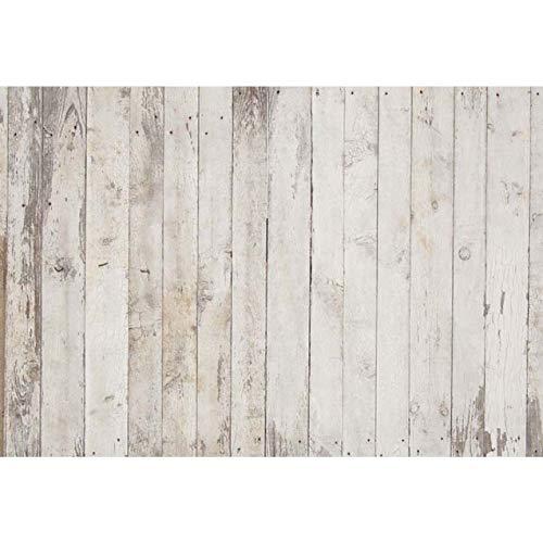 WaW 2.2x1.5m Langlebig Fotografie Stoff Hintergrund Grau Holz, Faltbare Fotoshooting Hintergrund Baby Neugeborenen, Haustier, Werbung Studio Video Fotohintergrund