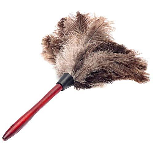 Anti-Statische Veer Veer Fur Houten Handvat Duster, Dust Cleaning Tool Household Afstoffen Borstel
