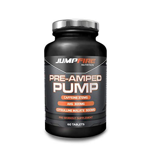 Jumpfire Nutrition Pre Workout Supplement Contains Citrulline Malate, Arginine-Alpha-Ketoglutarate (AAKG), Caffeine, Niacin, Creatine Monohydrate & Ethyl Ester, Aminos, Vitamins & Mineral Mix