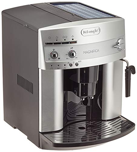 Delonghi super-automatic espresso coffee machine with an adjustable grinder, milk frother, maker for brewing espresso, cappuccino. ESAM3200 Magnifica