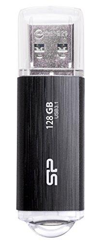 シリコンパワー USBメモリ 128GB USB3.1 & USB3.0 ヘアライン仕上げ 永久保証 Blaze B02 SP128GBUF3B02V1K