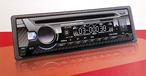 Radio CD DVD USB 2.0 AUX 55 W x4 frontale rimovibile schermo digitale multifunzione