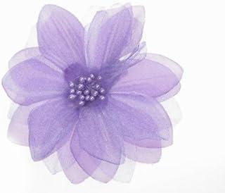 Glitz4Girlz Purple Organza Flower Hair Clip/Corsage