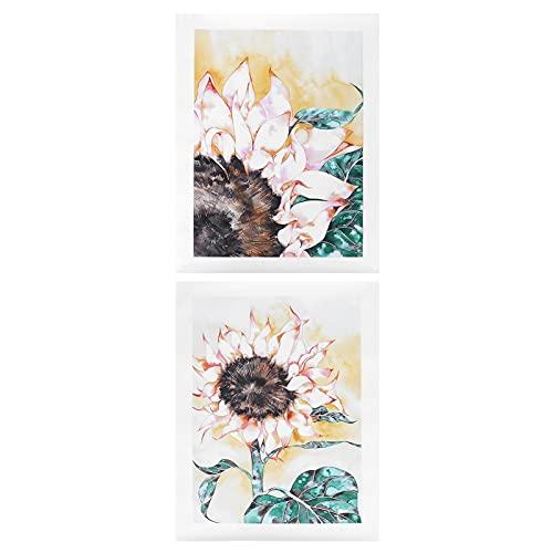 FASJ Arte de Pared, Lienzo de Girasol con microimpresión Único con Exquisita artesanía para Familiares y Amigos para el Dormitorio del Restaurante en casa