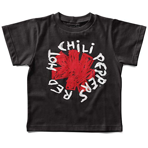Camiseta infantil Red Hot Chili Peppers Handmade, Let's Rock Baby, Preto, 6 anos