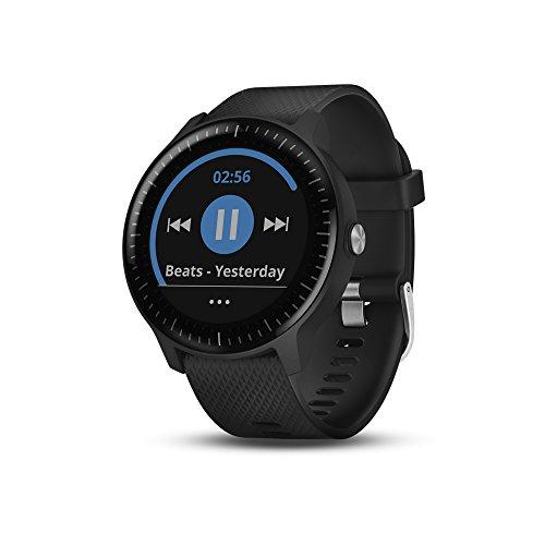 Garmin Smartwatch Vivoactive 3 Music GPS Mano Ciclismo Unisex Adulto, Negro y Plata (Reacondicionado)