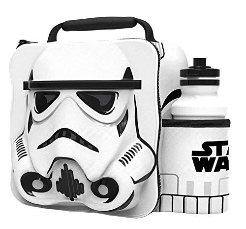 STORM TROOPER Kids Children 3D Lunch Box Bag With Sport Water Bottle