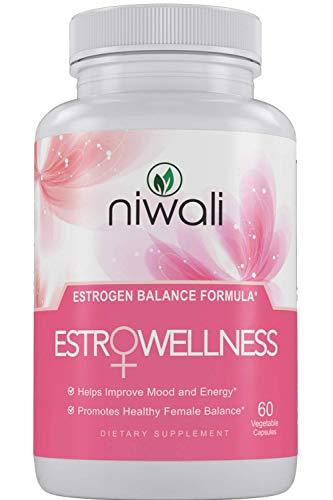 NIWALI Estrogen Pills for Women - Female Hormone Balance Supplement   Menopause Mood and Energy Support - Restores Healthy Estrogen Levels   60 Non-GMO Vegetarian Capsules