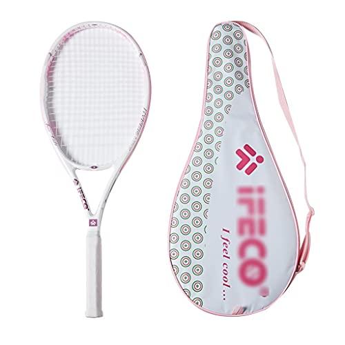 Raquetas De Tenis para Niños Tenis con Absorción De Impactos Tenis Profesional Tenis Rosa (Color : Pink, Size : 68.5cm)