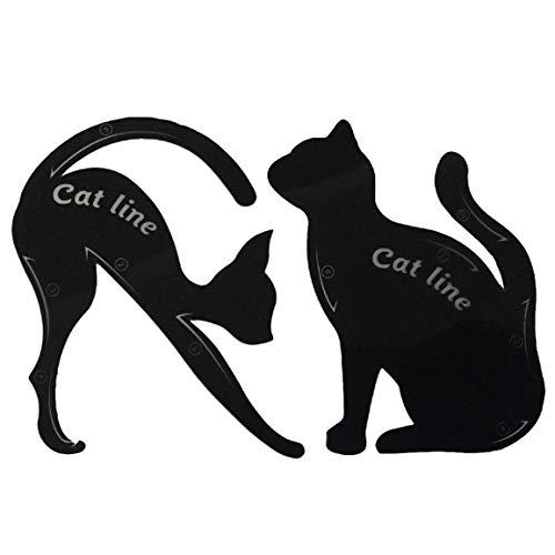 Mujeres Cat Line Eye Makeup Eyeliner Plantillas de Plantillas únicas Kits de Herramientas de Maquillaje para Ojos Herramientas de delineador de Ojos con Estilo ➤ HibiscusElla