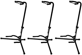 On Stage Tubular Guitar Stand with Velveteen Padding Three-Pack