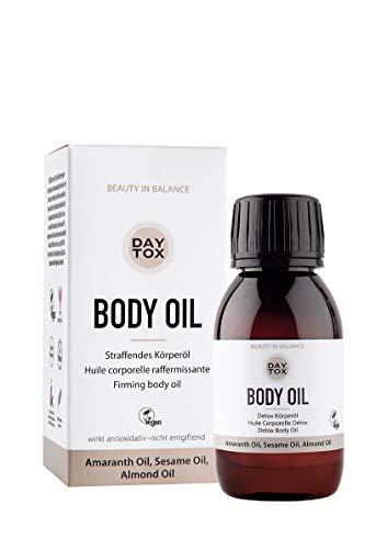 DAYTOX - Body Oil - Reichhaltiges Körperöl (Trockenöl) für straffere Haut - Vegan, Ohne Silikone, Made in Germany - 100 ml
