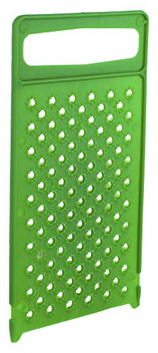 Flat All Plastic Cheese Grater - Ergonomic Hand Grater - Professional Cheddar Grater Handheld