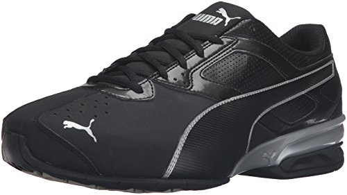 PUMA Men's Tazon 6 FM Puma Black/ Puma Silver Running Shoe - 9.5 D(M) US