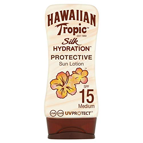 Hawaiian Tropic Silk Hydration Protective Sun Lotion Sonnencreme LSF 15, 180 ml, 1 St